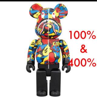 アベイシングエイプ(A BATHING APE)のBE@RBRICK100% 400% CAMO SHARK ver ape (キャラクターグッズ)