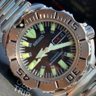 セイコー(SEIKO)の美品 SEIKO DIVER'S ブラックモンスター(腕時計(アナログ))