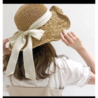フラワー(flower)のFlower 麦わら帽子リボン(麦わら帽子/ストローハット)