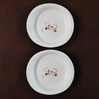 ファミリア(familiar)のfamiliar プラスチック皿 2枚(食器)