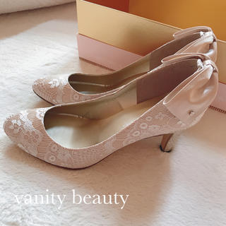 vanitybeauty - 新品未使用★vanity beauty★レースリボンパンプス