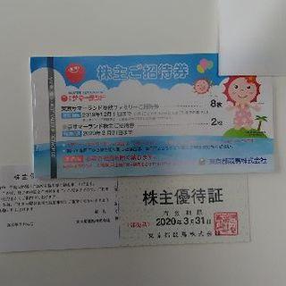 東京サマーランド 株主優待(遊園地/テーマパーク)