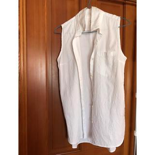 ギャップ(GAP)のノースリーブシャツチュニック(シャツ/ブラウス(半袖/袖なし))