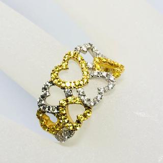 k18 ダイヤモンド リング 指輪 デザイン ダイヤリング オープンハート(リング(指輪))