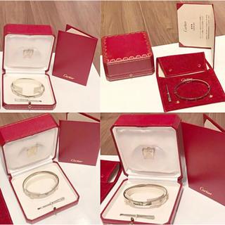 カルティエ(Cartier)のカルティエ ラブブレス ホワイトゴールド ☆ メンズ 21cm WG ブレス(ブレスレット)