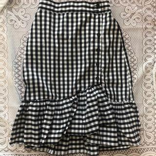 ウィゴー(WEGO)のマーメイドスカート ギンガムチェック(ひざ丈スカート)