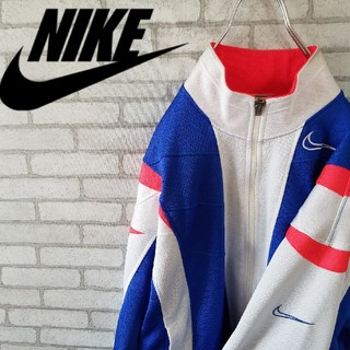 ナイキ(NIKE)の希少 90s NIKE ジャージ トップス マルチカラー 刺繍ロゴ (ジャージ)