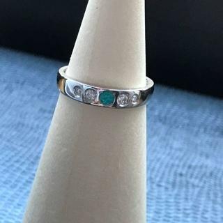 ◎はる🙂様専用◎PT900 濃厚パライバトルマリン ダイヤリング(リング(指輪))