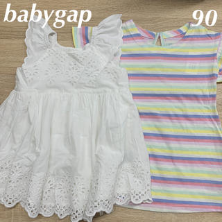 ベビーギャップ(babyGAP)の新品☆babygap☆ワンピースセット☆90㎝(ワンピース)