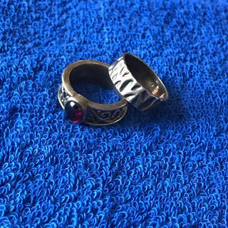 シルバー925★レトロデザインリング2個セット/指輪(リング(指輪))