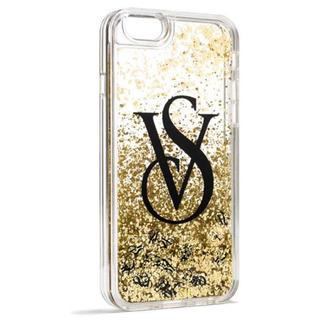 ヴィクトリアズシークレット(Victoria's Secret)のヴィクシー VS キラキラ ゴールドグリッター iPhone ケース(iPhoneケース)