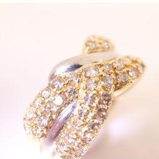 トクトクジュエリー 18金 プラチナ ダイヤモンド(リング(指輪))