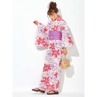 グレイル(GRL)のGRL 4点セットにじみ桜浴衣 浴衣 ちいぽぽモデル(浴衣)