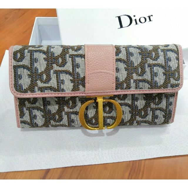 Dior - ピンク DIOR 長財布 開閉式 刻印ロゴ ファスナー 人気商品 の通販 by アキノリ🏵🍾️🎗🍷's shop|ディオールならラクマ