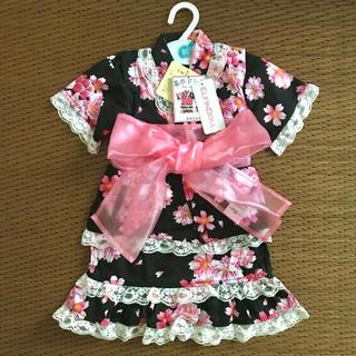 西松屋 - *新品*甚平ドレス スカートタイプ 帯付き3点セット 80cm