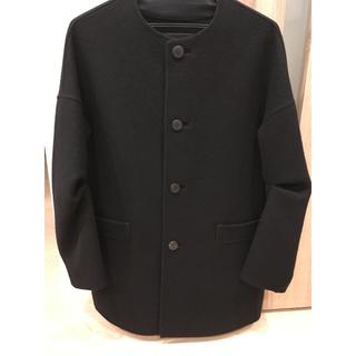 ドゥロワー(Drawer)のドゥロワー  ノーカラーコート ブラック 36サイズ(ノーカラージャケット)