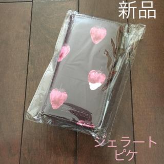 ジェラートピケ(gelato pique)の新品 ジェラートピケ iphoneカバー ケース ストロベリー バレンタイン(iPhoneケース)