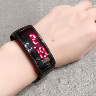 新品 LED 腕時計 ブラック 男女兼用 シンプル(腕時計(デジタル))
