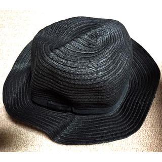 シマムラ(しまむら)の☆しまむら CLOSSHI☆  帽子 ペーパーブレードハット  黒(ハット)