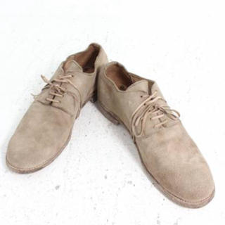 グイディ(GUIDI)のGUDI 短靴 1枚革 ドンキーレザー(ロバ)希少 限定出品 新品未使(ドレス/ビジネス)
