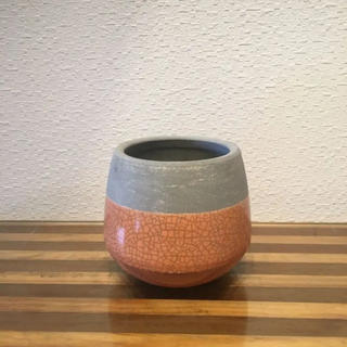●Trapezoid POT - orange-  No.232(雑貨)