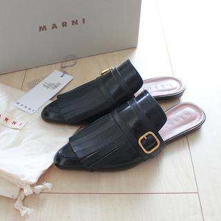 マルニ(Marni)のMARNI/マルニ/18SS/フリンジレザースリッパ/サンダル(サンダル)