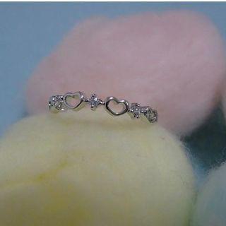 #AJ♥小さな透かし模様のハートが可愛い細幅リング♥18号(リング(指輪))