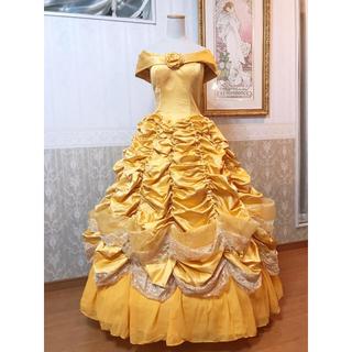 ディズニー(Disney)の❁Dハロ❁美女と野獣 ベル イエロードレス風デラックス衣装❁新品(ロングドレス)