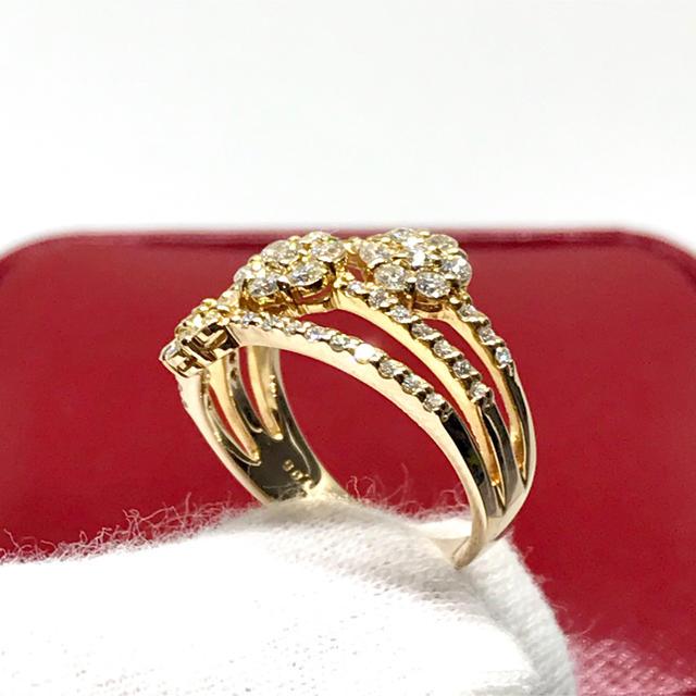 ☆K18 天然ダイヤモンド 豪華1.05カラット リング☆ レディースのアクセサリー(リング(指輪))の商品写真
