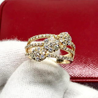 ☆K18 天然ダイヤモンド 豪華1.05カラット リング☆(リング(指輪))