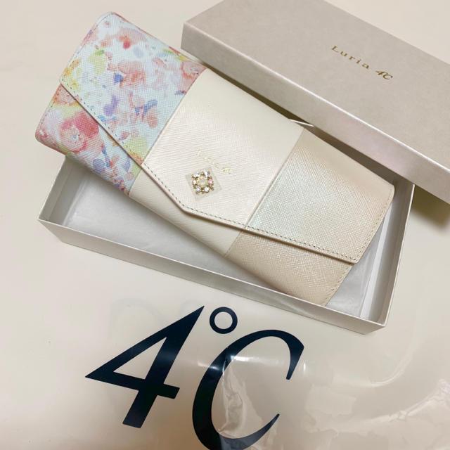 4℃ - ルリア4°c  長財布 新品未使用 ♡フラワーピュアライト♡箱付きの通販 by もんきちラヴィたん's shop|ヨンドシーならラクマ