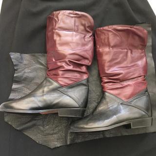 レザー 本革 ブーツ ツートンカラー(ブーツ)