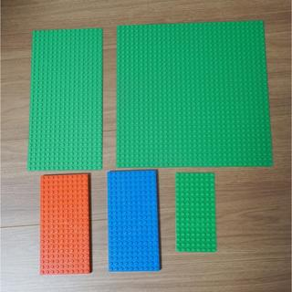 レゴ(Lego)のLEGO レゴ 基礎板 緑3枚 青1枚 赤1枚 ベースプレート 非喫煙環境保管(模型/プラモデル)