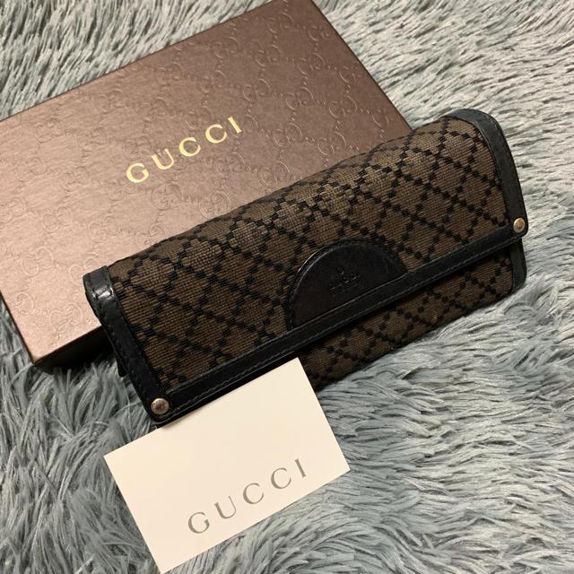 Gucci - GUCCI ディアマンテ ウール 長財布の通販 by  Toru Shop|グッチならラクマ