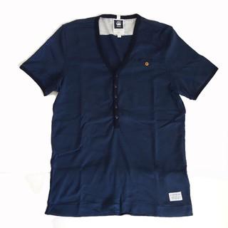 ジースター(G-STAR RAW)のG-STAR RAW ジースターロウ ヘンリーネック 半袖Tシャツ ネイビー M(Tシャツ/カットソー(半袖/袖なし))