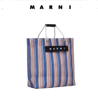マルニ(Marni)のMARNI FLOWER CAFE ストライプバッグ 新品(トートバッグ)
