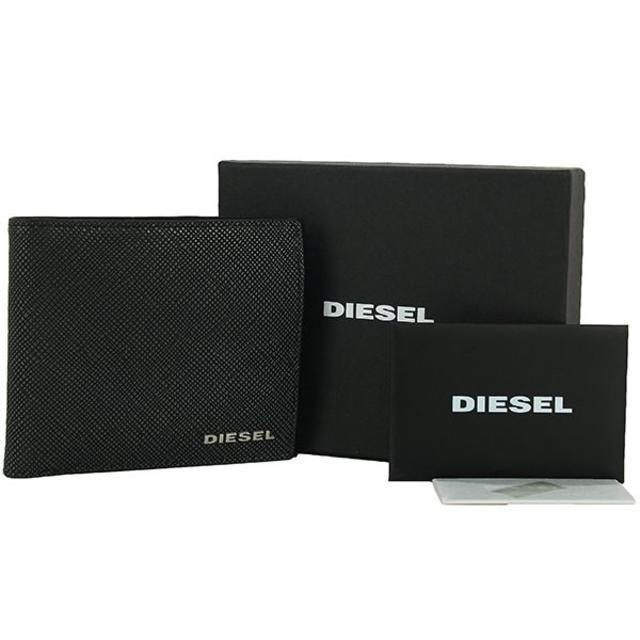 DIESEL - ディーゼル 二�折り財布 メタルロゴ 型押�レザー�通販 by papi's shop|ディーゼル�らラクマ