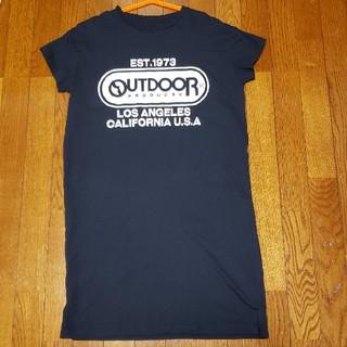 アウトドアプロダクツ(OUTDOOR PRODUCTS)のOUTDOOR レディースTシャツワンピ半袖 Lサイズ(Tシャツ(半袖/袖なし))