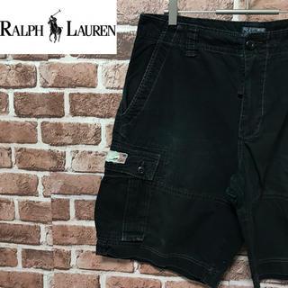 ラルフローレン(Ralph Lauren)の【激レア】ポロジーンズラルフローレン ダメージ加工 人気のブラックカーゴショーツ(ショートパンツ)