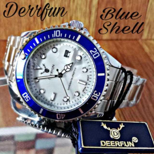 ハリー・ウィンストンコピー人気 / DERRFUN 腕時計 メンズ ウォッチ オーシャンブルー シェル シルバーの通販 by レオさくら's shop|ラクマ