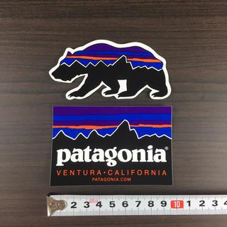 パタゴニア(patagonia)の157 パタゴニア ステッカー 2点 ☆ ベア 定番(その他)