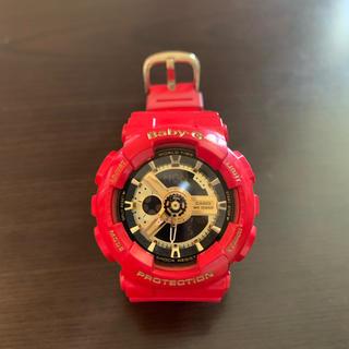 ベビージー(Baby-G)のbaby-G 赤 レッド ゴールド(腕時計)