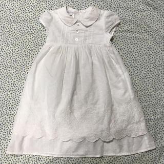 ボンポワン(Bonpoint)の【美品】charabia シャラビア 刺繍 ワンピース ドレス 18M(ワンピース)