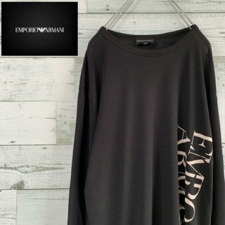 エンポリオアルマーニ(Emporio Armani)のEMPORIO ARMANI アルマーニ ロンT ビッグロゴ シンプル(Tシャツ/カットソー(七分/長袖))