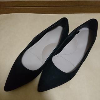 ユニクロ(UNIQLO)の【美品】パンプス 黒 ユニクロ UNIQLO(ローファー/革靴)