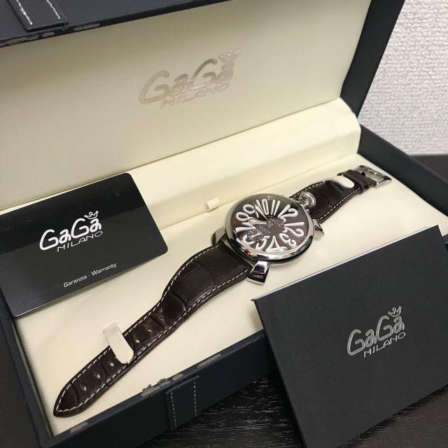トゥエンティフォー 時計 新作 - GaGa MILANO - ガガミラノ 腕時計 マヌアーレ48mm ブラウン文字盤 の通販 by yo-'s shop|ガガミラノならラクマ