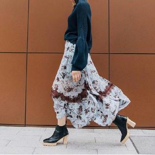 アメリヴィンテージ(Ameri VINTAGE)のアメリヴィンテージ Flower chiffon skirt(ロングスカート)