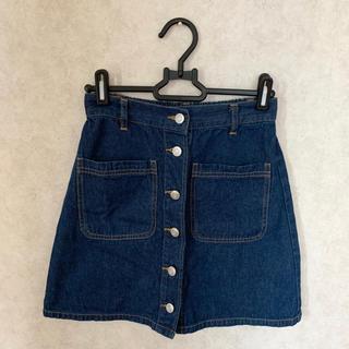 ウィゴー(WEGO)のWEGO デニム台形スカート(ひざ丈スカート)