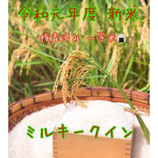 令和元年度 新米ミルキークイン玄米 20キロ(米/穀物)