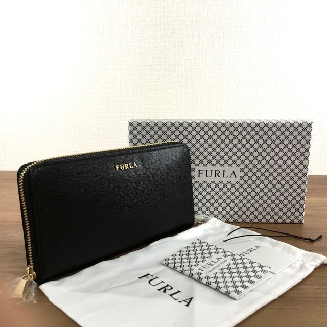 Furla - 新品 フルラ ラウンドファスナー長財布 ブラック レザー バビロン 11の通販 by ちー's shop|フルラならラクマ